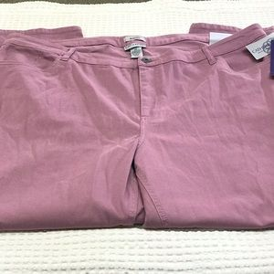 NWT Catherines Jeans Plus Size 2X Jeggings Mauve